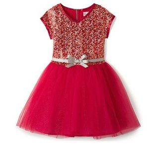 NWT American Girl Decked Out Holiday Dress Red